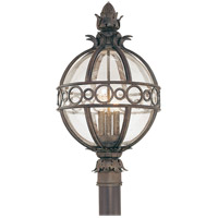 Campanile 3 Light 24 inch Campanile Bronze Post Lantern