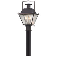 Wellesley 3 Light 18 inch Charred Iron Post Lantern