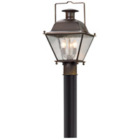 Wellesley 3 Light 18 inch Natural Rust Post Mount
