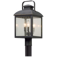 Troy Lighting P5085 Chamberlain 3 Light 20 inch Vintage Bronze Post Mount