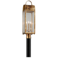 Troy Lighting P5094HB Bostonian 3 Light 22 inch Historic Brass Post Mount