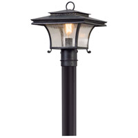 Troy Lighting Grammercy - Post Mount - Forged Iron Finish - Clear Seeded Glass P5145