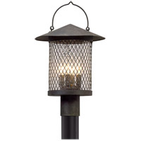 Troy Lighting Altamont - Post Mount - French Iron Finish with Clear Seeded Glass P5175