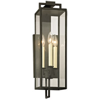 Beckham 3 Light 24 inch Forged Iron Post Lantern