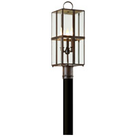 Rutherford 3 Light 24 inch Charred Bronze Post Lantern