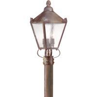 Troy Lighting P8944NR Preston 3 Light 20 inch Natural Rust Post Lantern in Clear