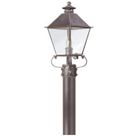Montgomery 1 Light 18 inch Charred Iron Post Lantern in Clear