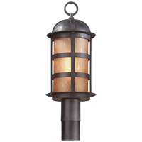Aspen 1 Light 20 inch Natural Bronze Post Lantern