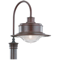 South Street 1 Light 21 inch Old Rust Outdoor Post Lantern in Fluorescent
