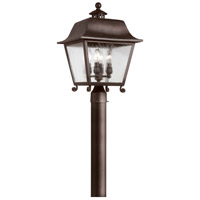 Bristol 4 Light 19 inch Natural Bronze Post Lantern