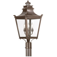 Troy Lighting P9496EB Dorchester 3 Light 25 inch English Bronze Post Lantern