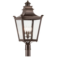 Dorchester 4 Light 29 inch English Bronze Post Lantern