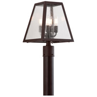 Troy Lighting PCD3435 Amherst 4 Light 15 inch River Valley Rust Post in Clear Seeded