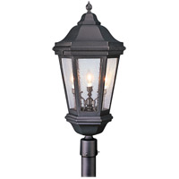 Verona 3 Light 34 inch Matte Black Post Lantern in Incandescent