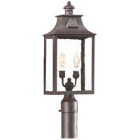 Newton 2 Light 21 inch Old Bronze Post Lantern in Incandescent