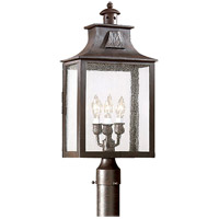 Troy Lighting PCD9006OBZ Newton 3 Light 23 inch Old Bronze Post Lantern in Clear Seeded, Incandescent photo thumbnail