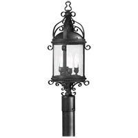 Pamplona 4 Light 27 inch Old Bronze Post Lantern in Incandescent