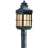 Dover 1 Light 22 inch Natural Bronze Post Lantern Fluorescent