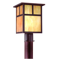 Monterey 1 Light 13 inch Oil Rubbed Bronze Outdoor Post Lantern
