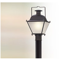 Wellesley LED 18 inch Charred Iron Post Lantern