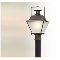 Wellesley LED 18 inch Natural Rust Post Lantern