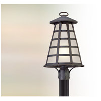 Benjamin LED 21 inch Vintage Iron Post Lantern