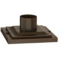 Square Base Pier Mount 9 inch Aged Pewter Pier and Post Accessory