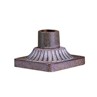 Troy Lighting PM8680ANI Square Base Pier Mount 6 inch Antique Iron Pier and Post Accessory