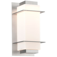 Troy Lighting BL4601SA Paradox LED 12 inch Satin Aluminum Outdoor Wall Sconce