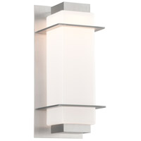 Troy Lighting BL4602SA Paradox LED 15 inch Satin Aluminum Outdoor Wall Sconce