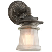 Troy Lighting Pearl Street 1 Light Outdoor Wall Sconce in Charred Zinc B4351