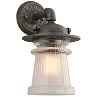 Troy Lighting Pearl Street 1 Light Outdoor Wall Sconce in Charred Zinc B4352