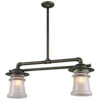 Pearl Street 2 Light 11 inch Charred Zinc Outdoor Island