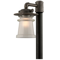Pearl Street 1 Light 16 inch Charred Zinc Post Lantern