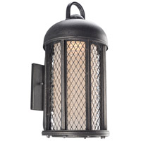Signal Hill 1 Light 21 inch Aged Silver Outdoor Wall Sconce in Incandescent