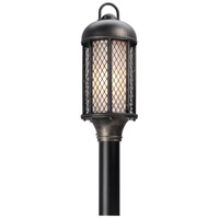 Signal Hill 1 Light 20 inch Aged Silver Post Lantern in Incandescent