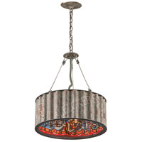 Troy Lighting F4764 Street Art 4 Light 18 inch Weathered Galvanized Street Art Pendant Ceiling Light