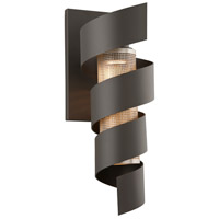 Troy Lighting Vortex LED Outdoor Wall Sconce in Bronze with Painted Galvanized Shade B4265