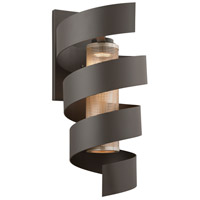 Troy Lighting Vortex LED Outdoor Wall Sconce in Bronze with Painted Galvanized Shade B4266
