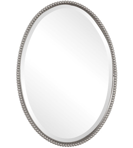 Uttermost 01102 B Sherise 32 X 22 Inch Brushed Nickel Wall Mirror