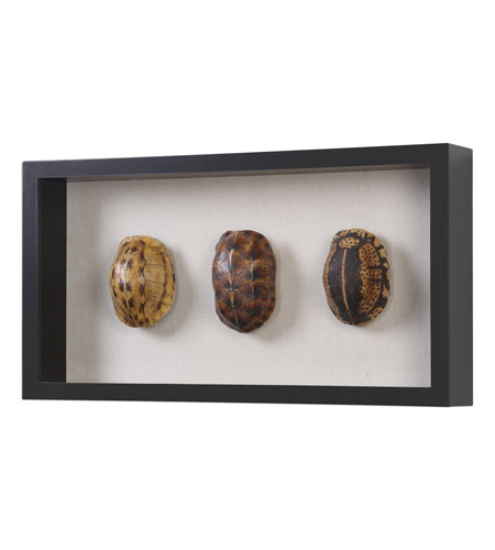 Uttermost 04068 Tortoise Shells Oatmeal Linen/Matte Black Shadow Box, Hand Painted 04068-A.jpg