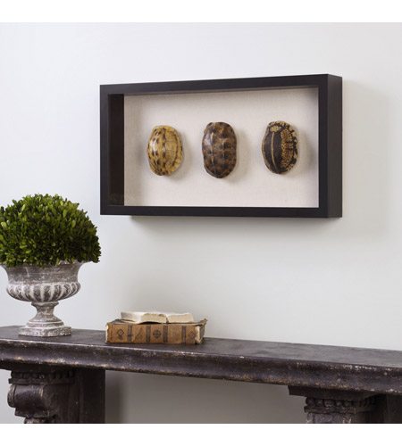 Uttermost 04068 Tortoise Shells Oatmeal Linen/Matte Black Shadow Box, Hand Painted 04068-A1.jpg
