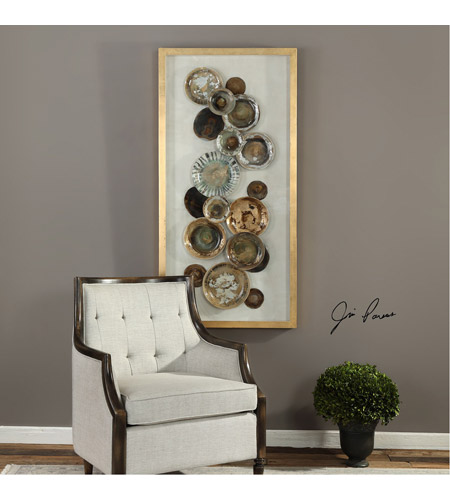 Uttermost 04152 Myla Multicolored and Metallic Gold Leaf Antique Plate Shadow Box 04152_Lifestyle.jpg