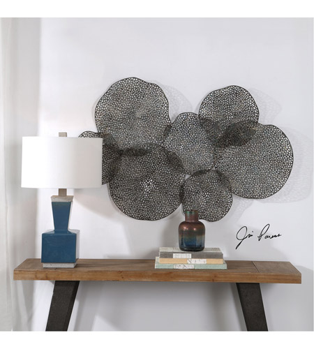 Uttermost 04174 Ripley 47 X 26 inch Metal Leaf Wall Art 04174_Lifestyle.jpg