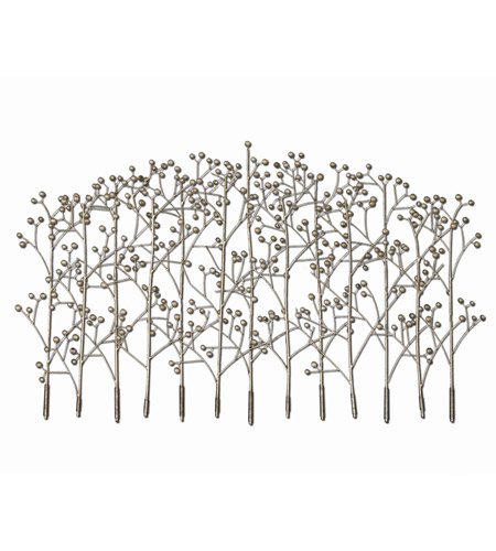 Uttermost Iron Trees Metal Wall Art in Antiqued Silver Champagne 05018 photo