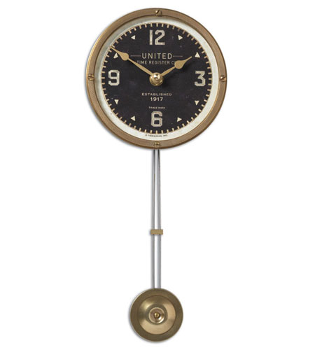 Uttermost 06014 United Time Black 5in 13 X 5 inch Wall Clock