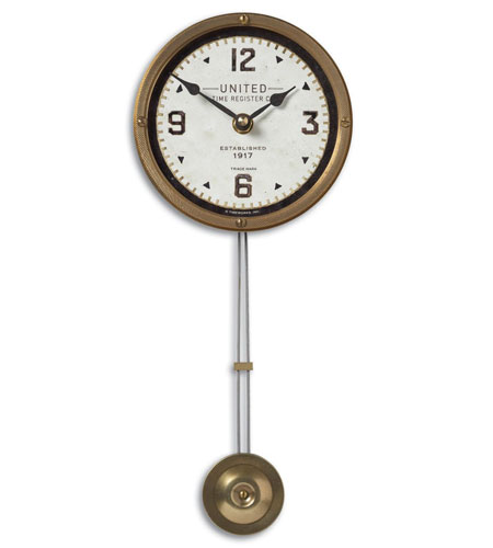Uttermost 06015 United Time Cream 5in 13 X 5 inch Wall Clock