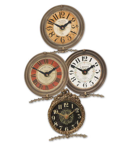 Uttermost 06064 Mini Table Classic 4 X 4 inch Wall Clock