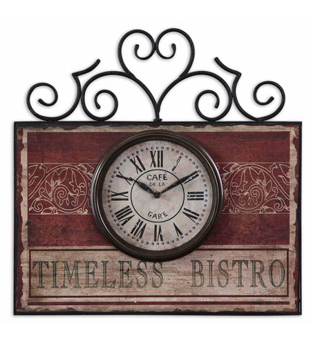 Uttermost 06663 Timeless Bistro 22 X 21 inch Wall Clock