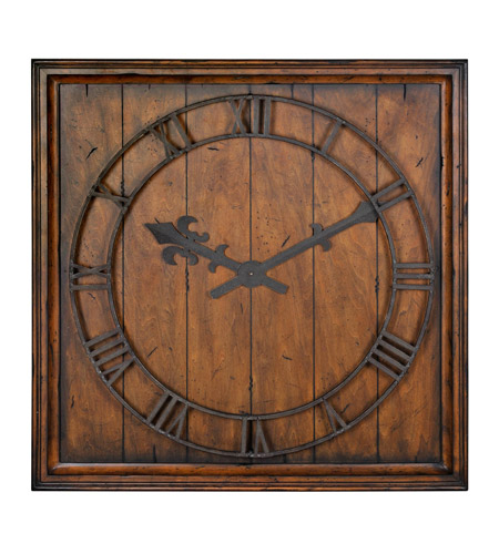 Uttermost Garrison Clock in Heavily Burnished Honey Pecan 06851 photo